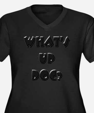 What's up doc? Women's Plus Size V-Neck Dark T-Shi