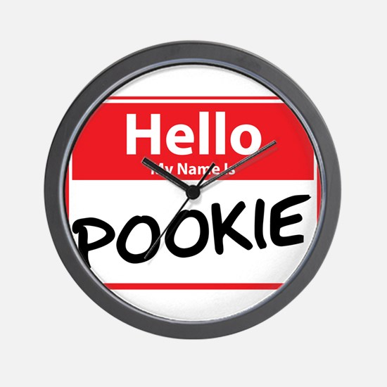 Hello My Name is Pookie Wall Clock