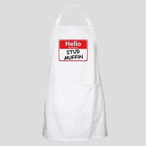 Hello My Name is Stud Muffin BBQ Apron