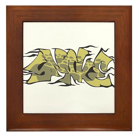 """Graffiti """"Snake"""" Design Framed Tile"""