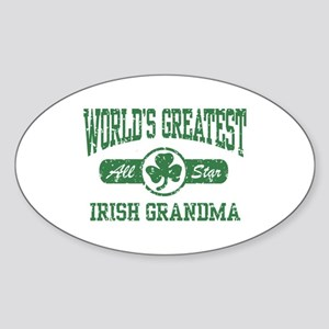 World's Greatest Irish Grandma Oval Sticker