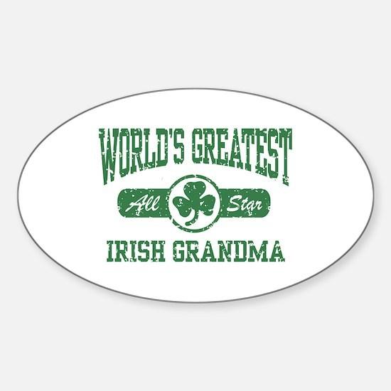 World's Greatest Irish Grandma Oval Decal