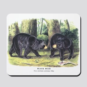 Audubon Black Bear Animal Mousepad