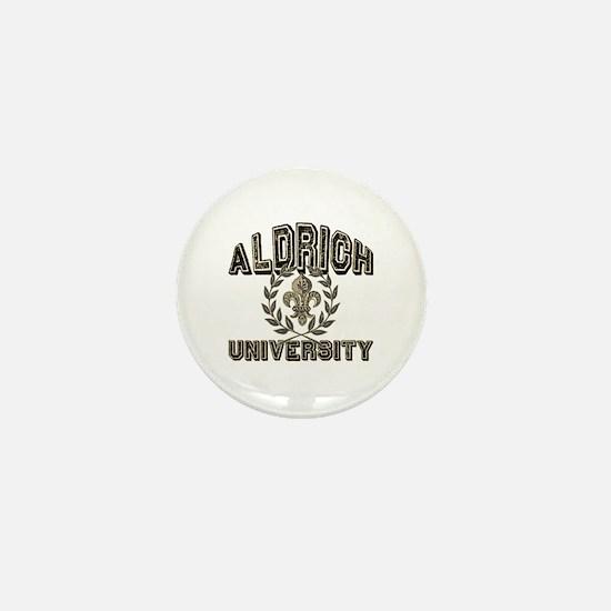 Aldrich Last Name University Mini Button
