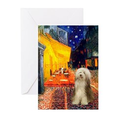 Cafe / Bearded Collie #16 Greeting Cards (Pk of 20