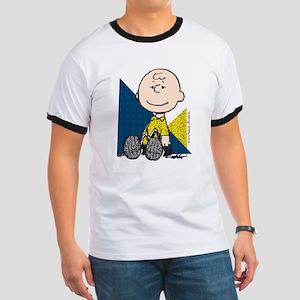 Charlie Brown Sitting Ringer T