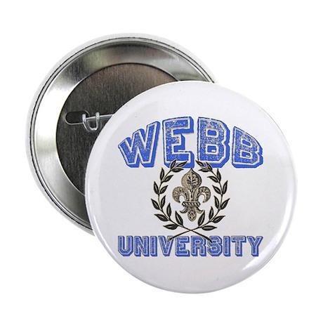 "Webb Last Name University 2.25"" Button (100 pack)"