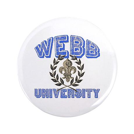 "Webb Last Name University 3.5"" Button (100 pack)"