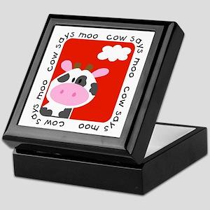Cow Says Moo Keepsake Box
