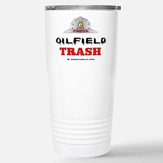 Oilfield Trash Stainless Steel Travel Mug,Oil,Oilf