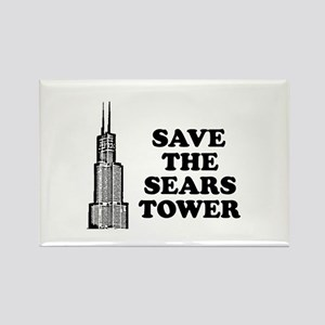 Save The Sears Tower Rectangle Magnet