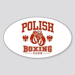 Polish Boxing Oval Sticker