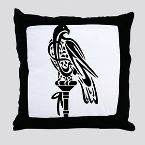 Falcon on Block Throw Pillow