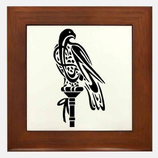 Falcon on Block Framed Tile