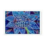May All Beings Be Free Wall Decal