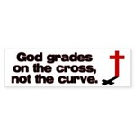 God Grades on the Cross Bumper Sticker (10 pk)
