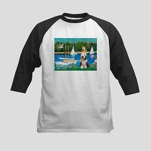 Sailboats / Beardie #1 Kids Baseball Jersey