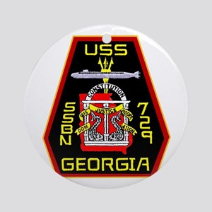 USS Georgia SSBN 729 Ornament (Round)