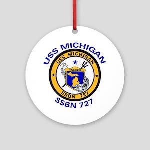 SSBN 727 USS Michigan Ornament (Round)