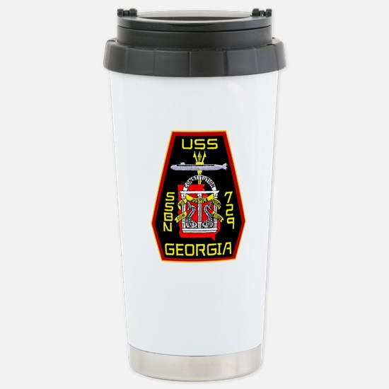 USS Georgia SSBN 729 Stainless Steel Travel Mug