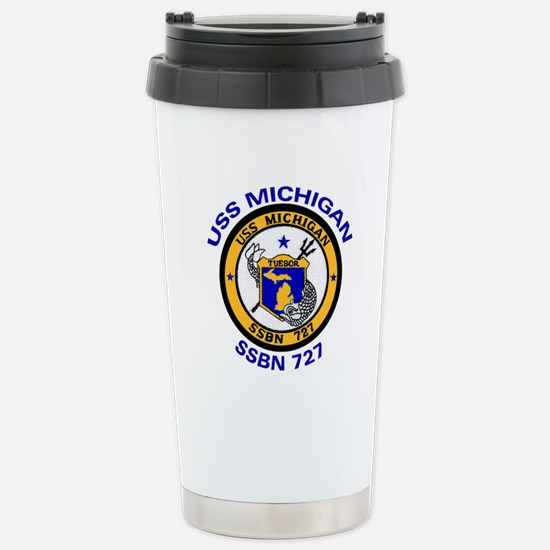 SSBN 727 USS Michigan Stainless Steel Travel Mug