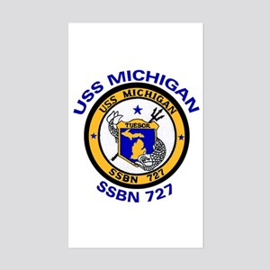 SSBN 727 USS Michigan Rectangle Sticker