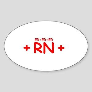 ER RN Oval Sticker
