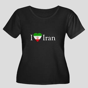 I Love Iran Women's Plus Size Scoop Neck Dark T-Sh