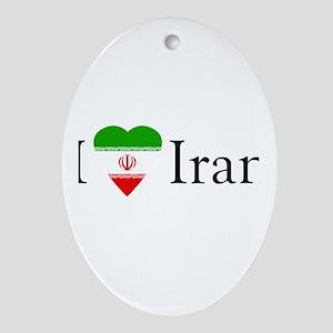 I Love Iran Oval Ornament