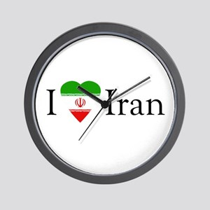 I Love Iran Wall Clock