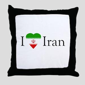 I Love Iran Throw Pillow