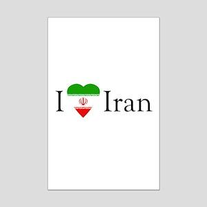 I Love Iran Mini Poster Print