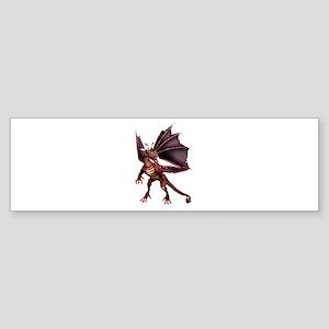 Brown Dragon Bumper Sticker