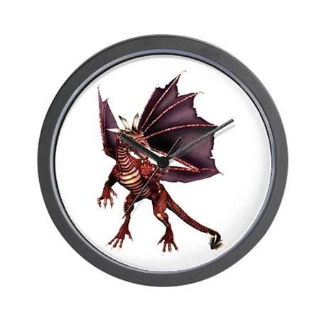 Brown Dragon Wall Clock