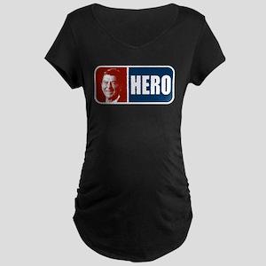 Ronald Reagan Hero Maternity Dark T-Shirt