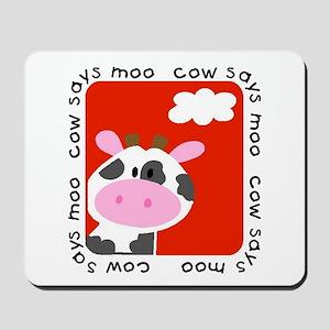 Cow Says Moo Mousepad