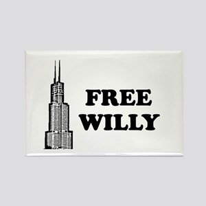 Free Willy Rectangle Magnet