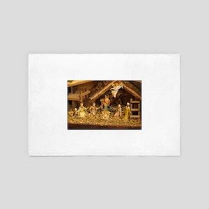 traditional nativity scene 4' x 6' Rug