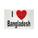 I Love Bangladesh Rectangle Magnet (10 pack)