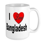 I Love Bangladesh Large Mug
