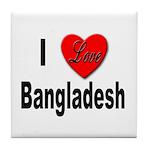 I Love Bangladesh Tile Coaster