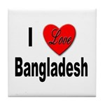 I Love Bangladesh Tile Coaster