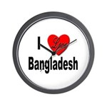 I Love Bangladesh Wall Clock