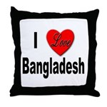I Love Bangladesh Throw Pillow