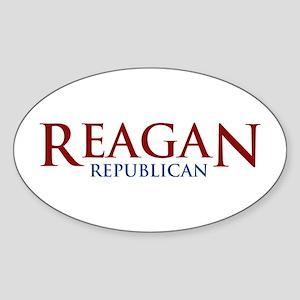 Reagan Republican Oval Sticker