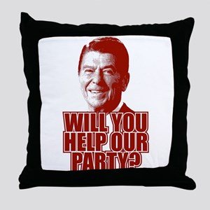 Help Our Party Throw Pillow
