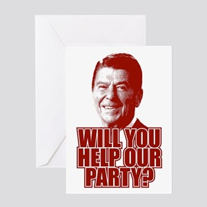 Help Our Party Greeting Card