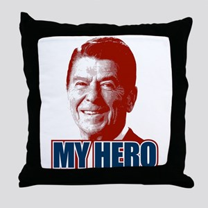My Hero Reagan Throw Pillow