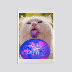 Easter Cat Rectangle Magnet
