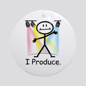 Theater Play Producer Ornament (Round)